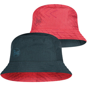 Buff Travel Bucket Hat, collage red-black
